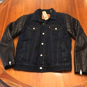 Levi's Thermore Hybrid Jean and leather jacket